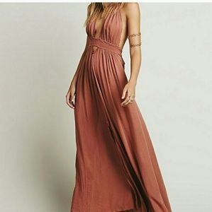FP Look Into The Sun Maxi Dress Dust Pink XS
